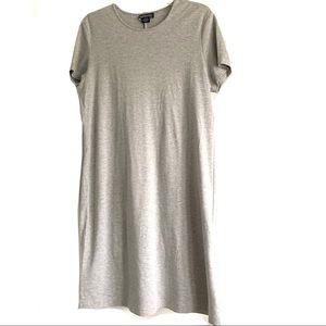 Lands' End Gray Short Sleeve Shift Dress Size L